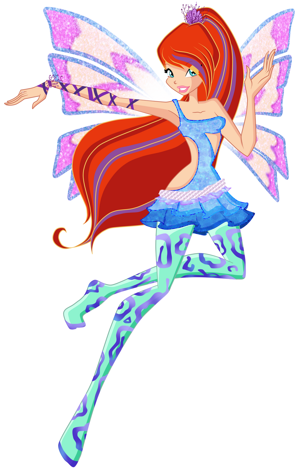 Dragon 3d and fairies on pinterest - Winx club sirenix ...