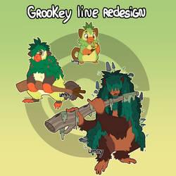 [Redesign] Grookey Line