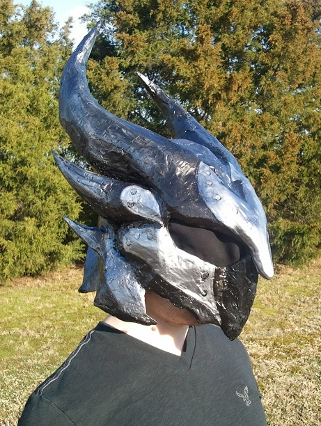 Wearing my Daedric Helmet by Kuraudo3