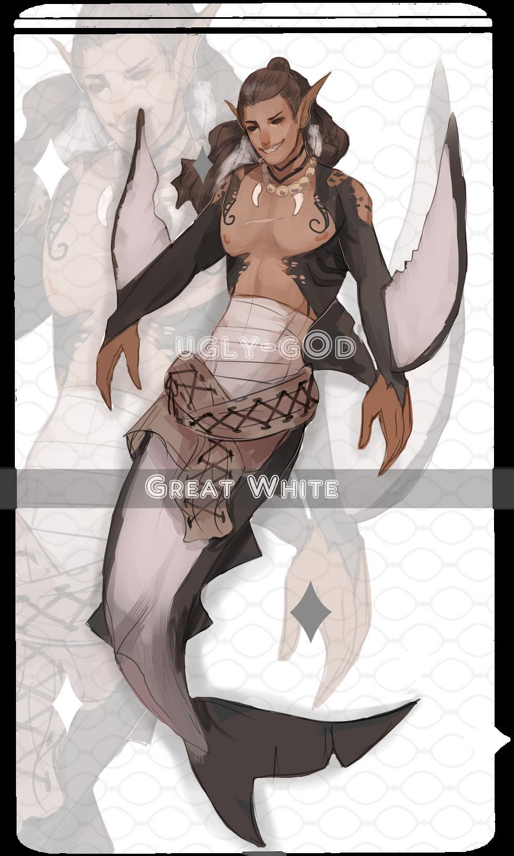 Shark Merman adopt [CLOSED] by ugly-g0d