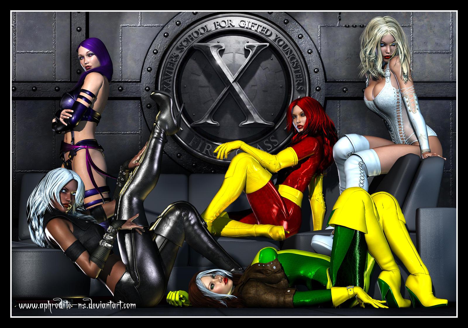 X-men women nude naked