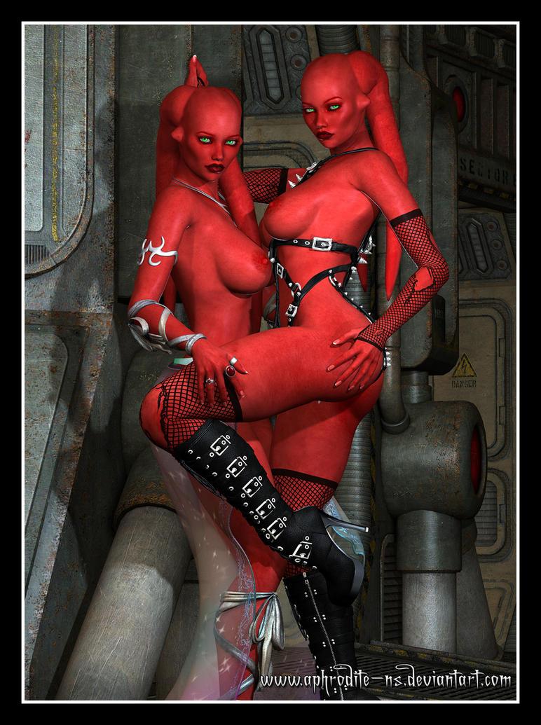 Aruna and Azuria by Aphrodite-NS