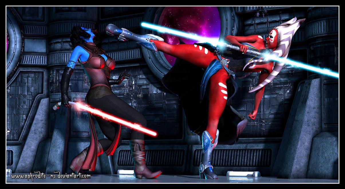 Commission - Ashara vs Sev'Rance Tann by Aphrodite-NS