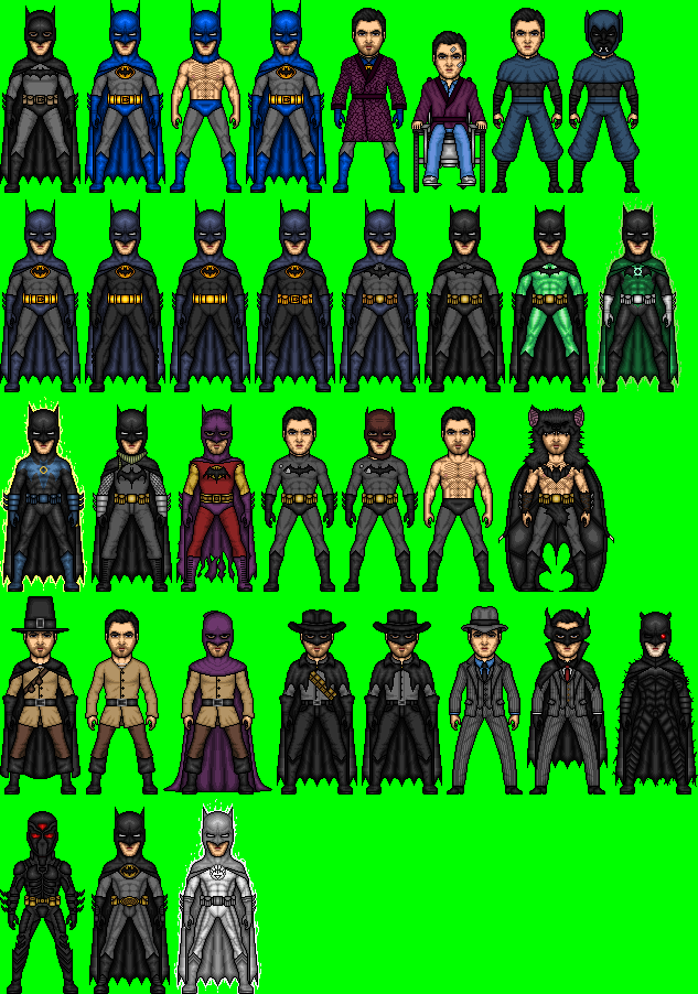 Evolution Of Bruce Wayne 1987-2012 by dannysmicros
