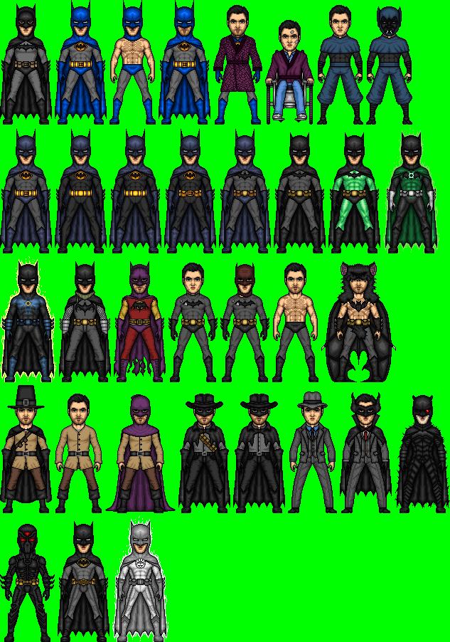 Evolution Of Bruce Wayne 1987-2012 by dannysmicros