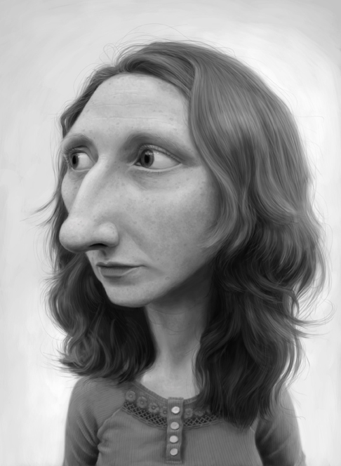 Random Girl Caricature by oftey on DeviantArt Caricature Drawings Of ... Zooey Deschanel And Ben Gibbard Wedding