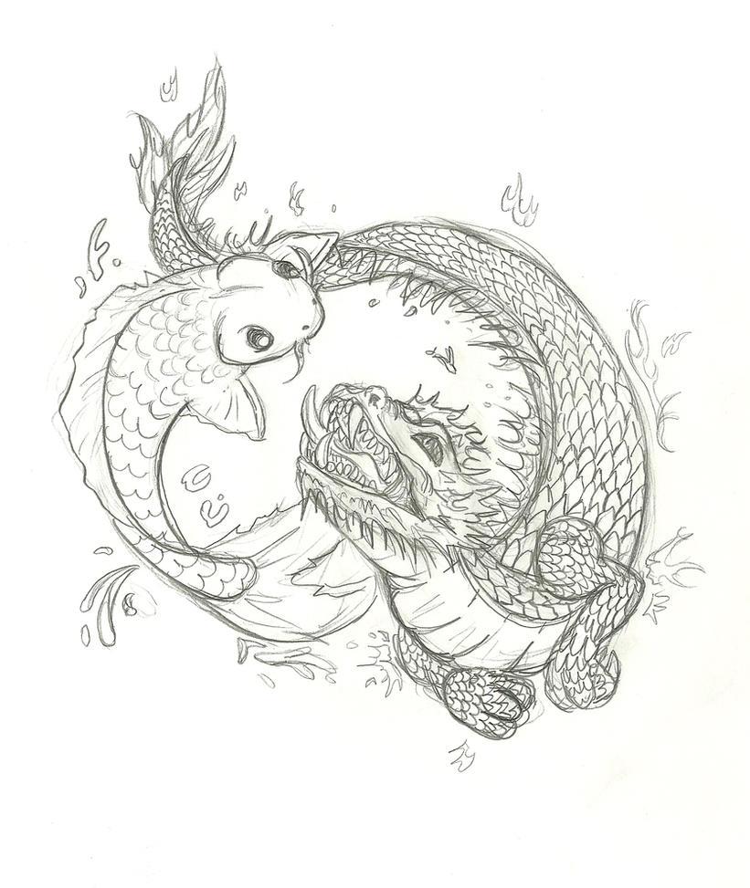 Dragon koi tattoo tattoo collections for Gerald green tattoo