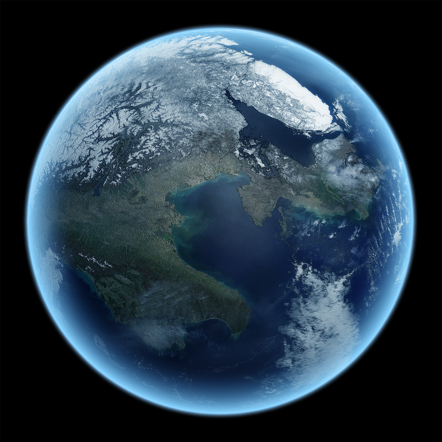 My first 3D Planet by Nazo-The-Unsolvable on DeviantArt