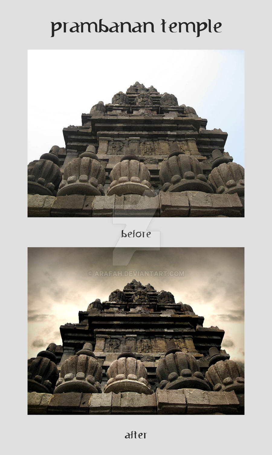 Prambanan Temple, Indonesia (Photo Retouch 3) by ARaFah