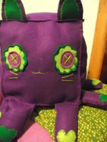 Purple and green squidcubekitten by Marshmallowmassacre