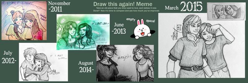 2015 Draw this again! Meme [If I Met Link]