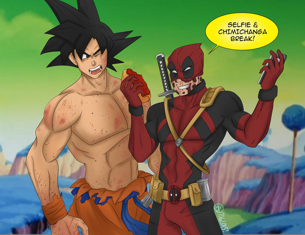 Goku vs Deapool! by MataGroovie