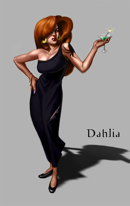 Dahlia the Black Widow by JakeMurray