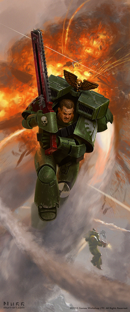 Warhammer 40K Dark Angel Assault Marine