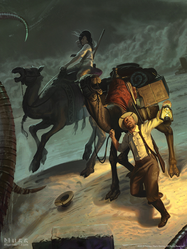 Eldritch Horror: Under the Pyramids - Detail 1 by JakeMurray