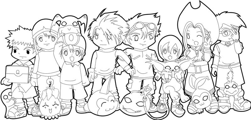 Digimon 10th Color Page WIP by Yoshimi-Ayumata on DeviantArt