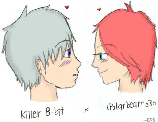colored art - me and cookie by killer8bit
