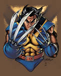 Wolverine colored by coloring