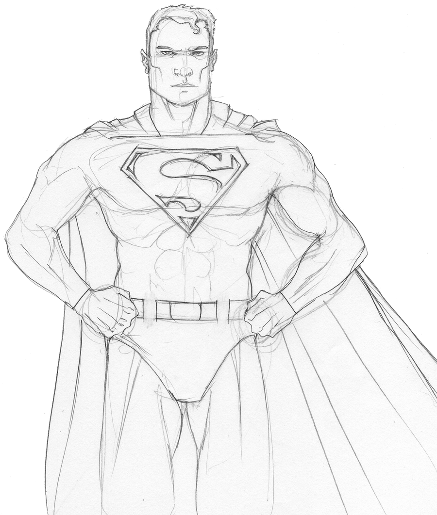 Superman Pencils01 by DelHewittJr on DeviantArt
