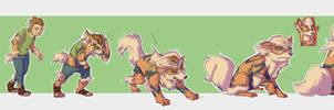 :COM: Arcanine transformation for Tivadu by FauvFox