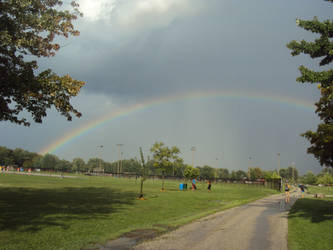 RAINBOW AT A PARK by FUTURELISA1