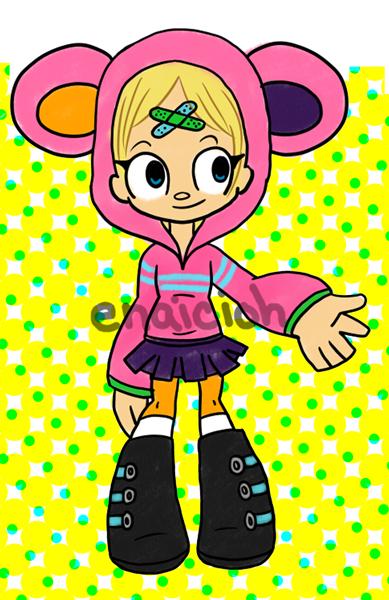 Little Pink Beary Hood by Enaicioh