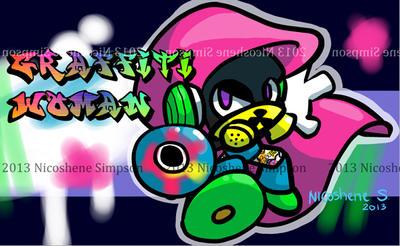 Graffiti Woman by Enaicioh