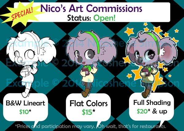 Commissions: OPEN by Enaicioh
