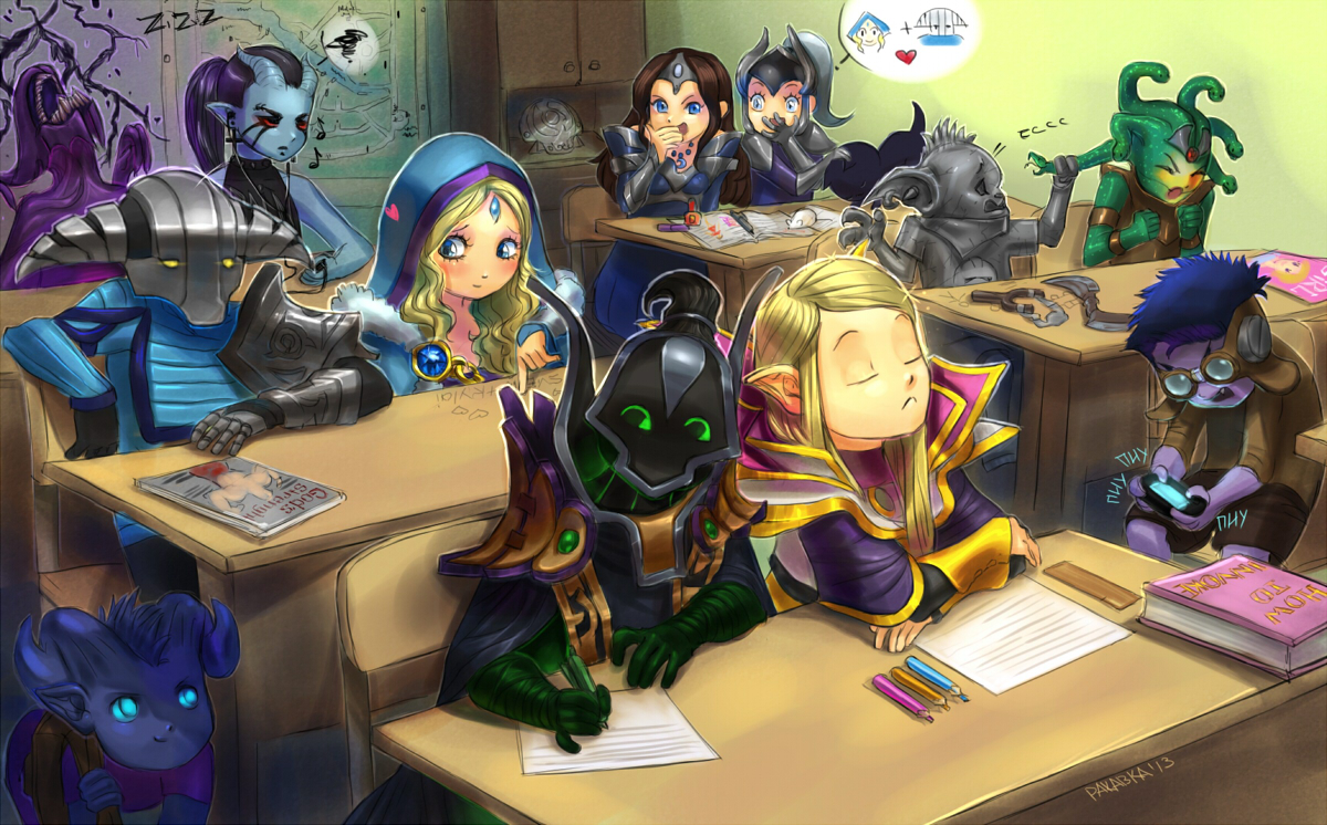 dota school by rakavka