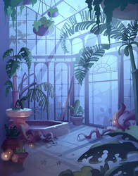 Commission: 'Haunt the House' : Spooky Greenhouse