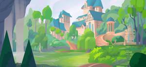 Commission: Castle garden