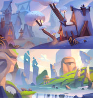 Fantasy landscapes by ApollinArt