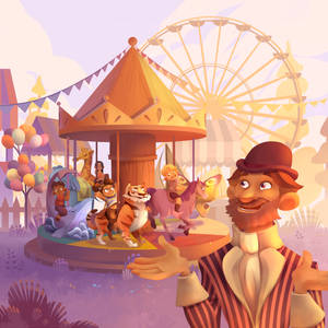 Commission 'Monsieur Carrousel' : boardgame cover