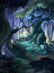 Enchanted Forest by ApollinArt