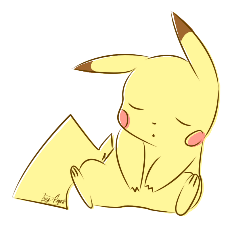 Sleepy Pikachu By ThePrettyArtist