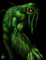 Man-Thing Paint by BaneNascent