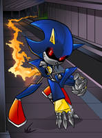 Metal Sonic is Fast by BaneNascent