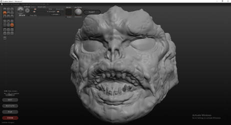 Fishmonger Head Sculpt (Front) by BaneNascent