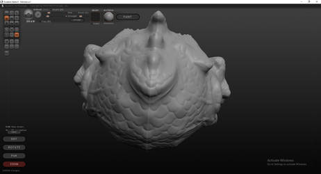 Fishmonger Head Sculpt (Top, Back)