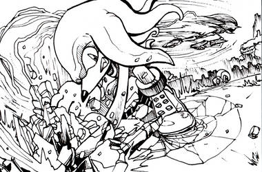 KNUCKLES THE ECHIDNA punch