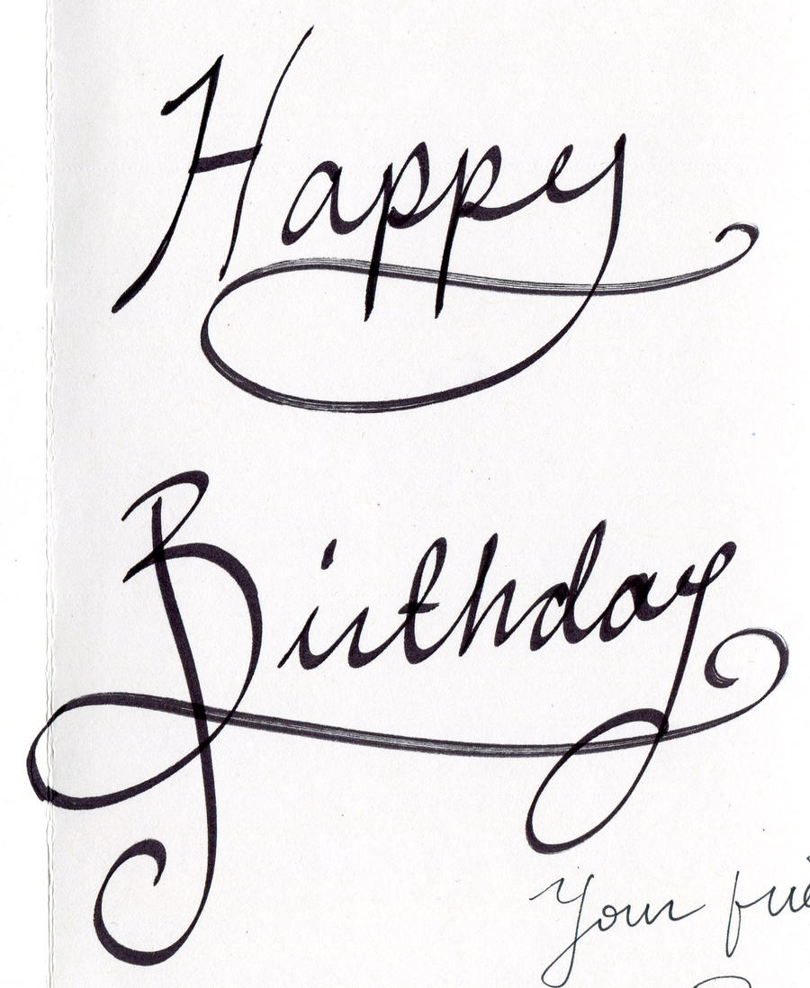 Happy Birthday Calligraphy By Renee-Mariposa On DeviantArt