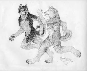 Run with me my dear friend by Phantom--Wolf