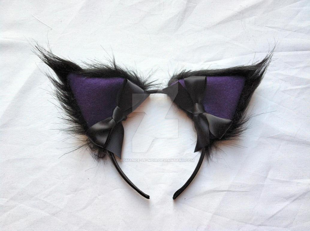 Handmade black faux fur cat Black Ant Bite