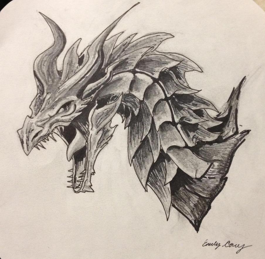 Alduin-sketch By EemsArt On DeviantArt