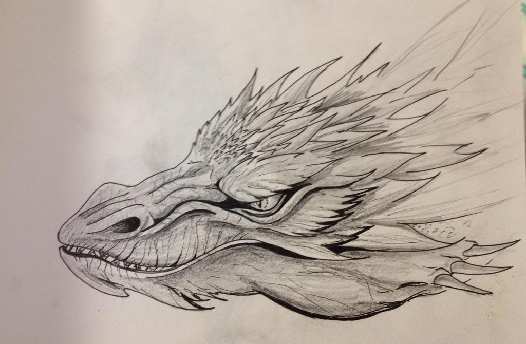 Smaug Head Portrait Sketch By EemsArt On DeviantArt