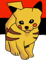 Pikachu Cat Version ._. by FLHHDA