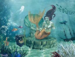 Underwater Mermaid by nrcArt