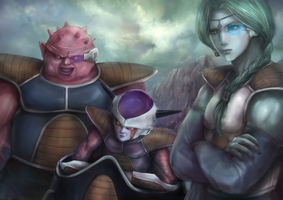 Frieza, Dodoria and Zarbon by UniversalArtGallery