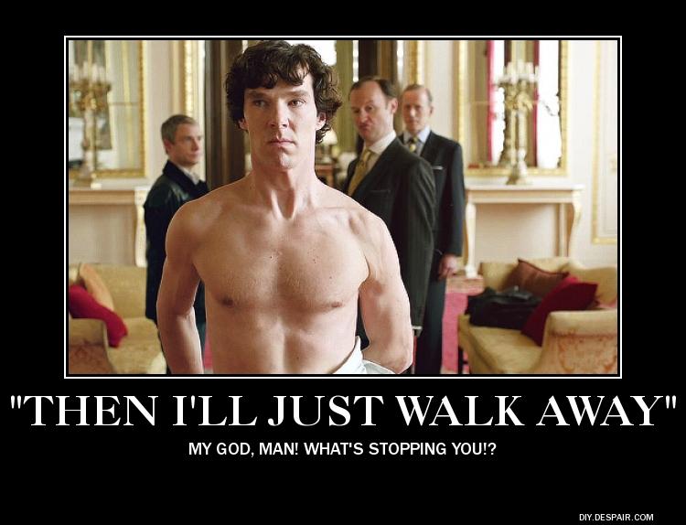 No Sheet, Sherlock? by SpockHorror