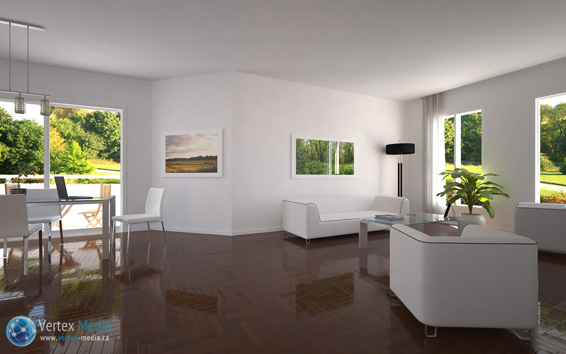 Spacious living room 3d by lerathel on deviantart for Living room 3d view